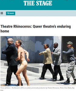 "Theatre Rhinoceros in ""The Stage"""