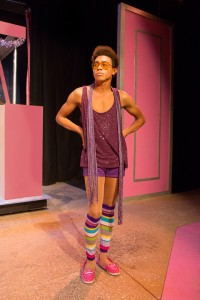 : Charles Peoples III as Adam in PRISCILLA, QUEEN OF THE DESERT, directed by John Fisher. A Theatre Rhinoceros Production at the Eureka Theatre, Photo by David Wilson.