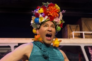Rudy Guerrero as Tick in PRISCILLA, QUEEN OF THE DESERT, directed by John Fisher. A Theatre Rhinoceros Production at the Eureka Theatre, Photo by David Wilson.