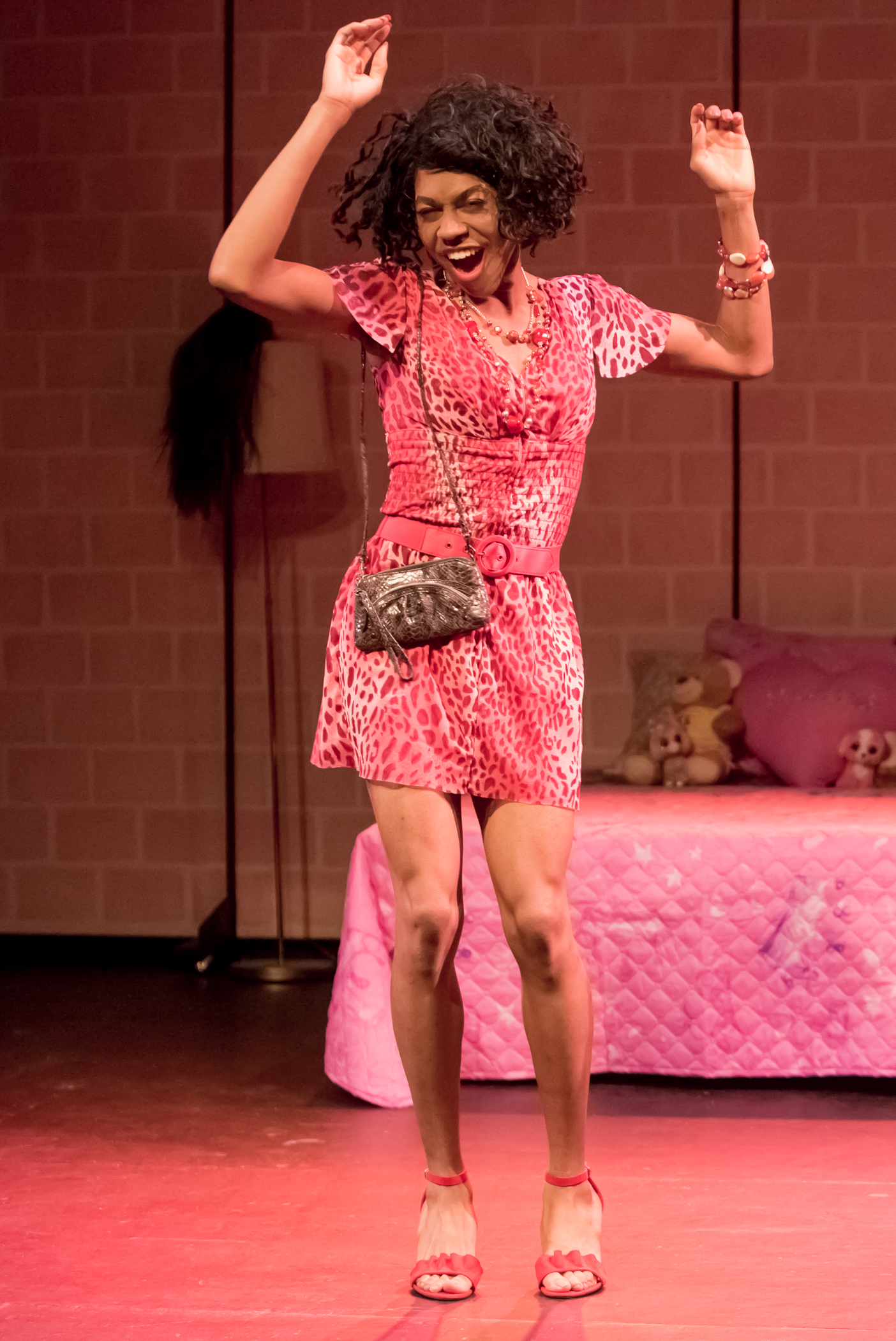 Charles Peoples III as Pink in THE LEGEND OF PINK by Kheven LaGrone, directed by AeJay Mitchell; A Theatre Rhinoceros Production at The Gateway Theatre (formerly The Eureka Theatre.) Photo by David Wilson.
