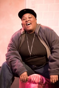 Phaedra Tillery as Nikki in THE LEGEND OF PINK by Kheven LaGrone, directed by AeJay Mitchell; A Theatre Rhinoceros Production at The Gateway Theatre (formerly The Eureka Theatre.)