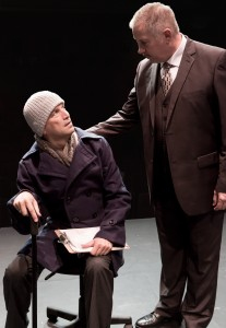 Pictured left to right: Jeremy Cole as Felix and Robert Zelenka as Ben in THE NORMAL HEART by Larry Kramer; A Theatre Rhinoceros Production at The Gateway Theatre (formerly The Eureka Theatre.) Photo by David Wilson.