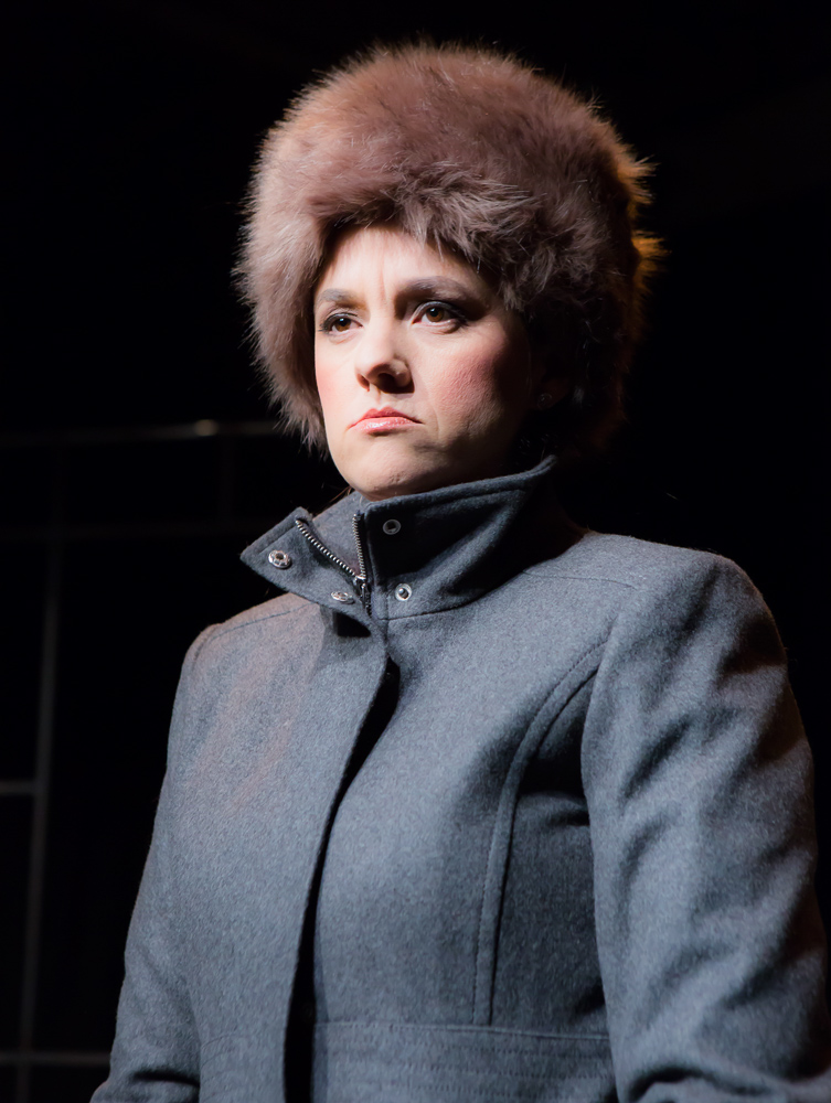 Katie Rubin* as Lyudmila Putin in John Fisher's TRANSITIONS; A Theatre Rhinoceros Production at The Gateway Theatre (formerly The Eureka); Photo by David Wilson.