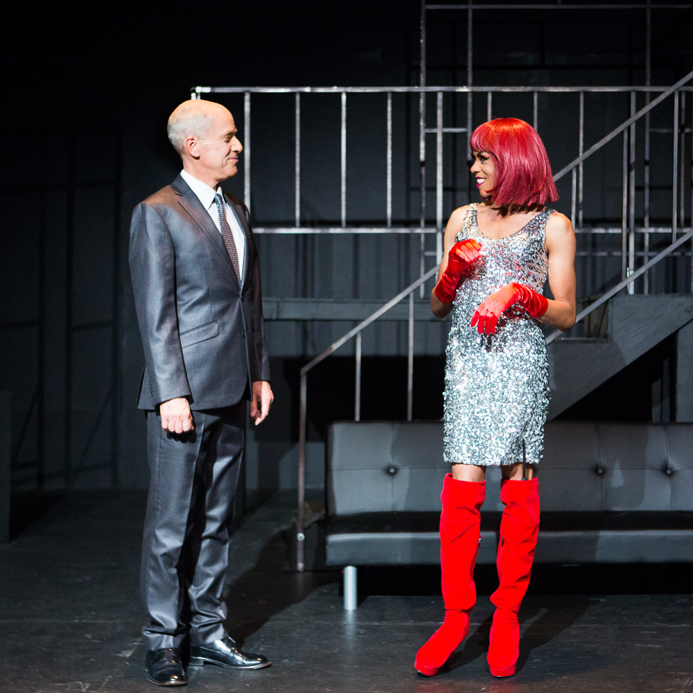 - Pictured left to right: John Fisher* as Vladimir Putin and Charles Peoples III as Ruby in John Fisher's TRANSITIONS; A Theatre Rhinoceros Production at The Gateway Theatre (formerly The Eureka); Photo by David Wilson.
