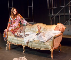 Katie Rubin* as Melania Trump and John Fisher* as Donald Trump in John Fisher's TRANSITIONS;