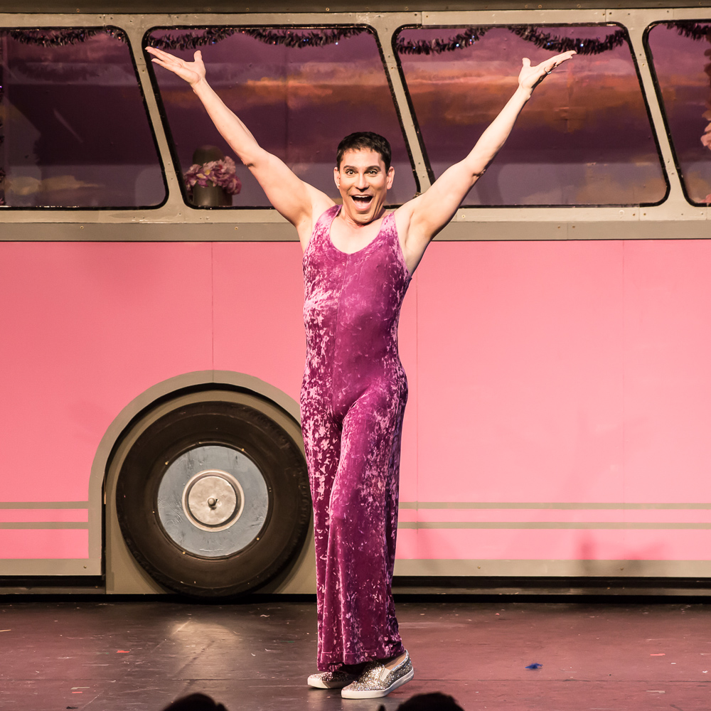 Pictured: Rudy Guerrero* as Tick in PRISCILLA, QUEEN OF THE DESERT, The Musical; Directed by John Fisher; A Theater Rhinoceros Production at the Gateway Theatre. Photo By David Wilson. *Member, Actors' Equity Association