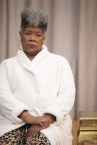 Shirley Smallwood as Carolyn in Chisa Hutchinson's DEAD AND BREATHING, Directed by AeJay Mitchell; A Theatre Rhinoceros Production at the Gateway Theatre. Photo by Steven Ho.