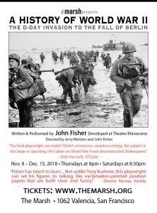 """Poster for John Fisher's """"A History of World War II: The D-Day Invasion to the Fall of Berlin"""""""