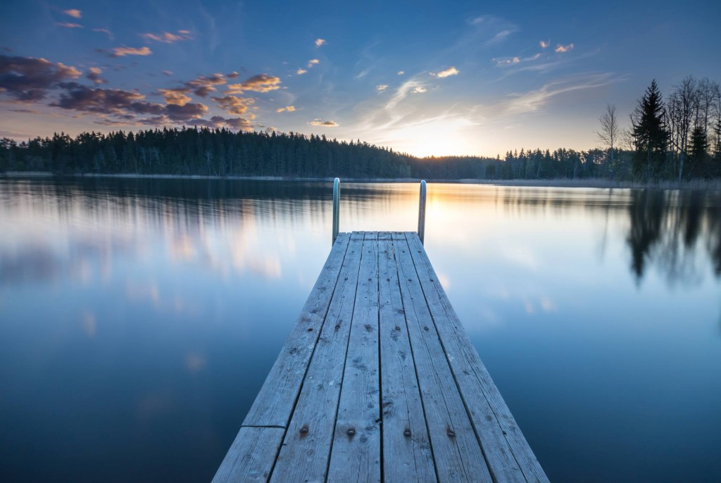 Long dock in a lake for CLASSICS ILLUSTRATED