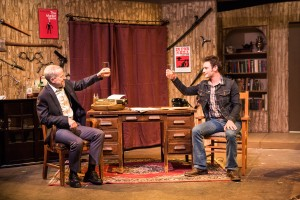 - Pictured left to right: John Fisher* as Sidney Bruhl and Jake Soss as Clifford Anderson in Ira Levin's Classic Thriller DEATHTRAP; A Theatre Rhinoceros Production at The Gateway Theatre; Directed by Jerry Metzker and John Fisher. Photo by David Wilson. *Member, Actors' Equity Association.