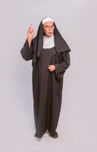 Kim K. Larsen as the Mother Superior in the Theatre Rhinoceros production of SISTER ACT: THE MUSICAL, directed and choreographed by AeJay Mitchell; at the Gateway Theater. Photo by David Wilson.
