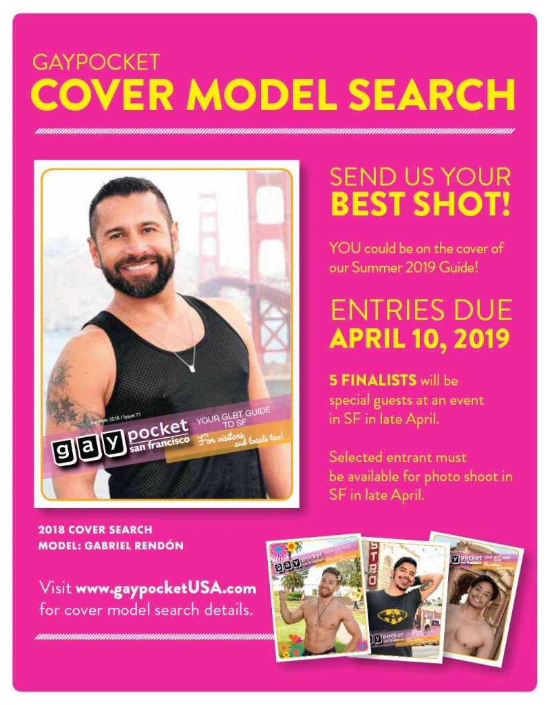 GayPocket SF Cover Model Selection Party and FUNraiser for Theatre Rhinoceros