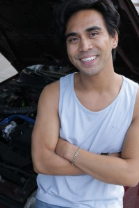 Earl Alfred Pays plays Danny in DRIVEN, by Boni Alvarez, directed by Ely Sonny Orquiza. A Theatre Rhinoceros at Spark Arts. Photo credit: Vince Thomas.