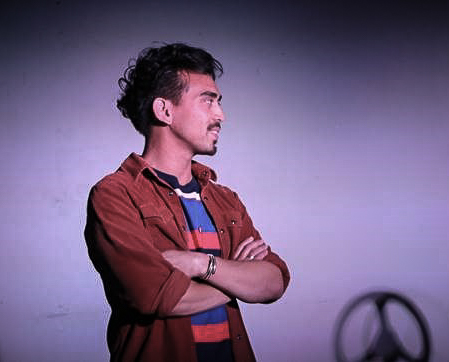 Earl Paus (as Danny) in DRIVEN, by Boni Alvarez. A production by Theatre Rhinoceros at Spark Arts, running through November 17.