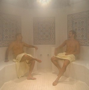 Two Men in a Steamroom